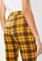 Missguided - Check trouser - mustard