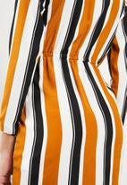 Missguided - Striped midi dress - mustard