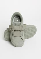 PUMA - Suede heart sneaker infants rock ridge - green