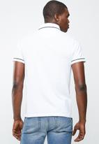 STYLE REPUBLIC - Block placket pique golfer - white