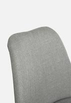 Sixth Floor - Dima upholstered barstool - grey