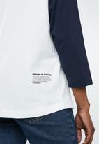 G-Star RAW - Graphic xula 3/4 tee - navy & white