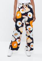 ONLY - Malu wide palazzo woven pants - orange & peach