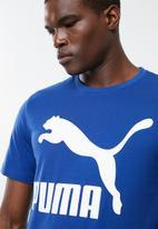 PUMA - Classics logo tee -  blue