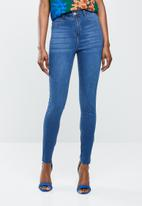 Missguided - Lawless high waisted - blue