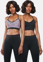 Superbalist - Core bra 2 pack - black & purple