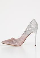 Sissy Boy - Glitter stiletto heels - pink & sliver