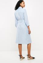 f5d9a4541c6 Linen midi shirt dress - light blue Superbalist Formal