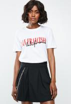 Missguided - San francisco slogan T-shirt - white