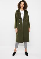 Missguided - Belted military formal coat - khaki