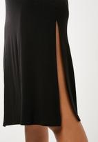 Superbalist - Sleeveless midi cover up - black