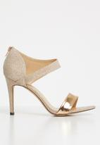 Sissy Boy - Asymmetric heels  - rose gold