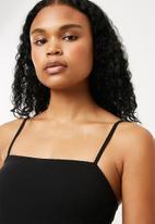 Superbalist - Straight neck bodysuit - black