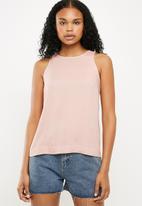 Superbalist - Contrast stitch vest - pink