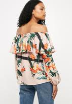 Superbalist - Frilled off the shoulder blouse - multi