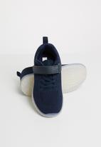 POP CANDY - Light up velcro strap sneaker - navy
