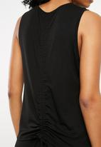 Superbalist - Drawstring detail vest - black