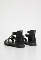 POP CANDY - Gladiator flat sandal - black