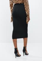 Missguided - Jersey midi skirt - black
