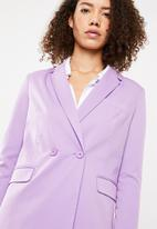 Superbalist - Double breasted suit jacket - lilac
