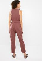 Superbalist - Jumpsuit with tapered cuff - tobacco