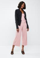 Missguided - Rib culotte jumpsuit - pink