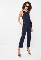 Superbalist - Jumpsuit with tapered cuff - navy
