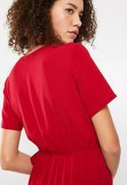 Superbalist - Formal wrap playsuit - red