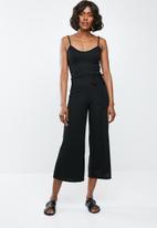 Missguided - Rib culotte jumpsuit - black