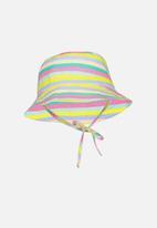 Cotton On - Kids bucket hat - yellow, pink & blue