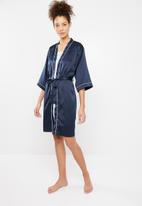Superbalist - Robe with contrast stitching - navy
