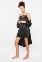 Superbalist - Lace detail nightie - black
