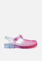 Cotton On - Amalfi jelly sandal - pink & blue