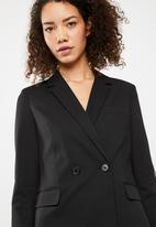 Superbalist - Double Breasted Suit Jacket - black