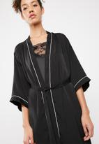 Superbalist - Robe with contrast stitching - black