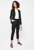 Superbalist - Suit Trouser with turn up cuff - black