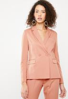 Superbalist - Double breasted suit jacket - peach