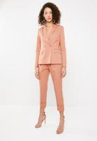 Superbalist - Suit trouser with turn up cuff - peach