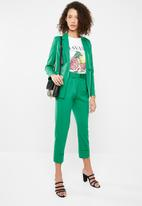 Superbalist - Suit trouser with turn up cuff - green