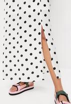 Superbalist - Spot strappy maxi dress - white & black