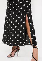 Superbalist - Spot maxi dress - black & white