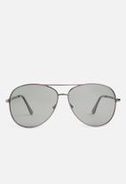 Superbalist - Mirror flat lens aviator sunglasses - charcoal