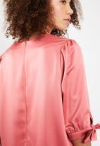 Superbalist - Puff sleeve detail dress - pink