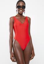 Bacon Bikinis - Kita one piece swimsuit - red