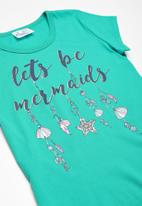 POP CANDY - Printed tee - turquoise