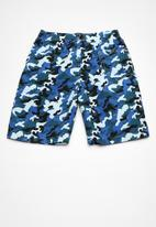 POP CANDY - Army printed boardshorts - blue