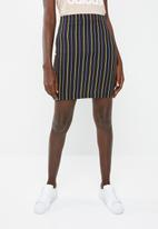 Superbalist - High waisted bodycon skirt - navy & yellow