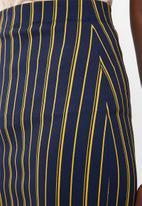 Superbalist - High waisted bodycon skirt - navy & yellow