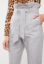 Superbalist - Stripe paperbag pant - grey