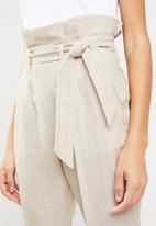 Superbalist - Stripe paperbag pant - stone